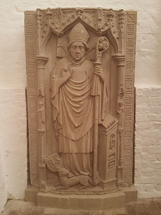 """Stephan Bodecker - tombstone of Bishop Stephan in the cathedral of Brandenburg """"St. Peter and Paul"""