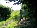 Stile and footpath near Great Hinton - geograph.org.uk - 1437675.jpg
