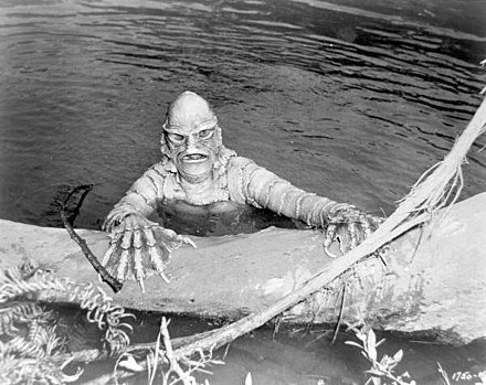 The Gill-man from Creature from the Black Lagoon was an inspiration for del Toro's concept. Still from the Creature from the Black Lagoon (15666911261).jpg