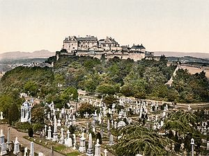 Siege of Stirling Castle (1746) - Stirling Castle as viewed from the town cemetery