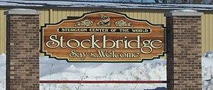 Stockbridge, Wisconsin - Welcome sign