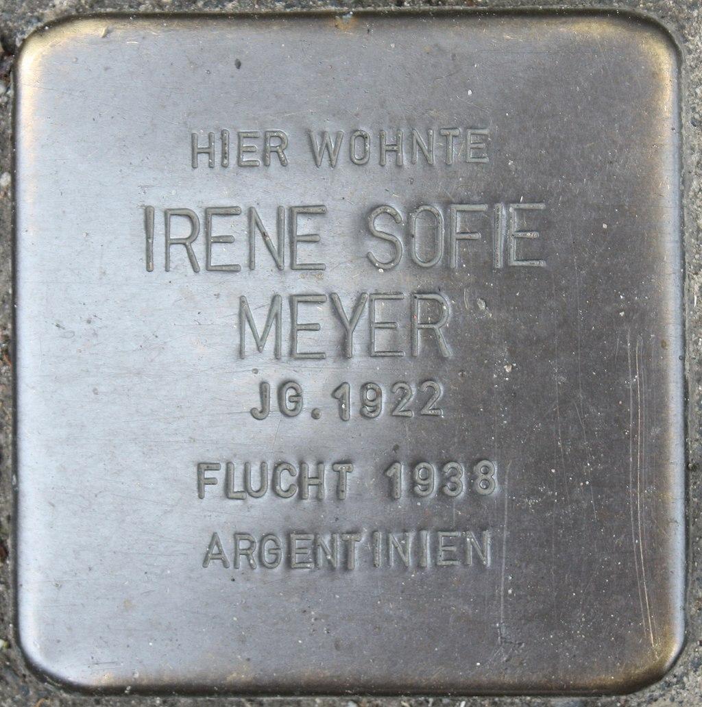 Stolperstein für Irene Meyer