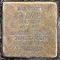 Stolperstein Duisburger Str 1 (Wilmd) Ida Awner.jpg