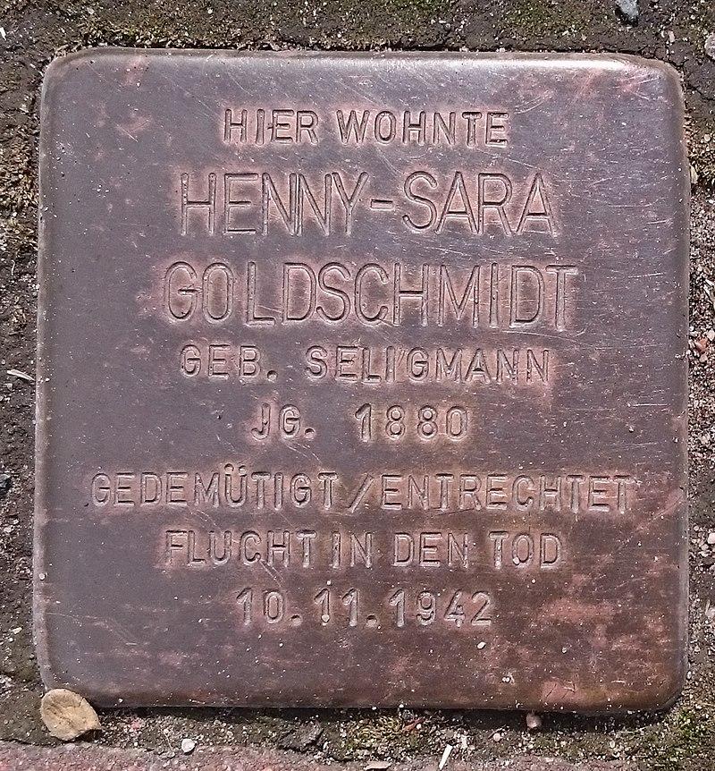 Stolperstein Henny-Sara Goldschmidt (Freden)