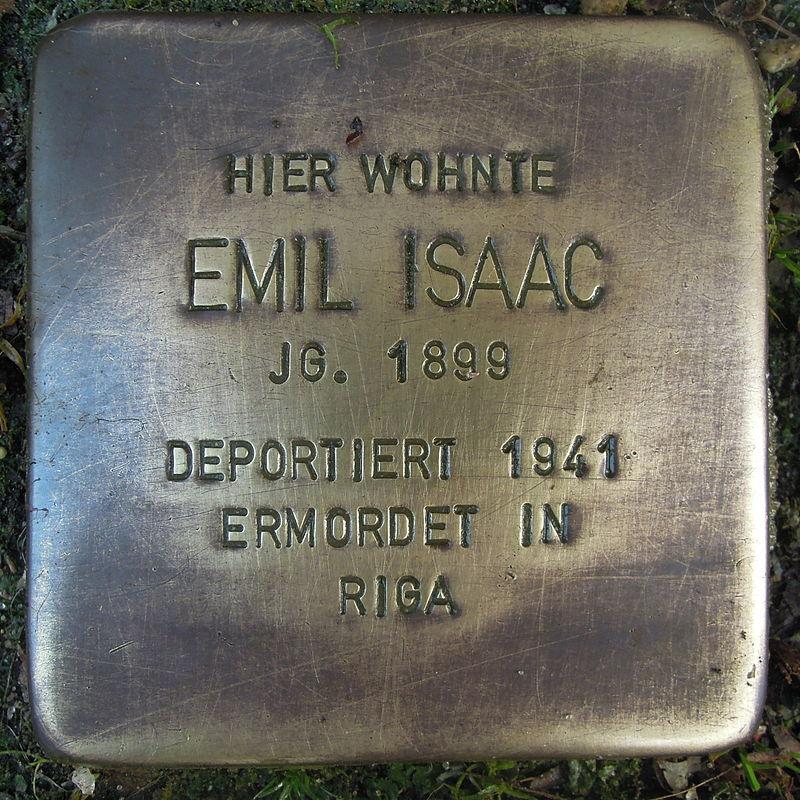 Stolperstein für Emil Isaac