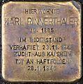 Stolperstein Salzburg, Karl Rinnerthaler (Franz-Josef-Kai 1).jpg