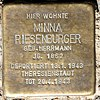 Stolperstein Stierstr 21 (Fried) Minna Riesenburger.jpg