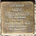 Stolperstein Stierstr 21 (Fried) Minna Riesenburger.jpg