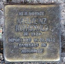 Photo of Karlheinz Rothschild brass plaque
