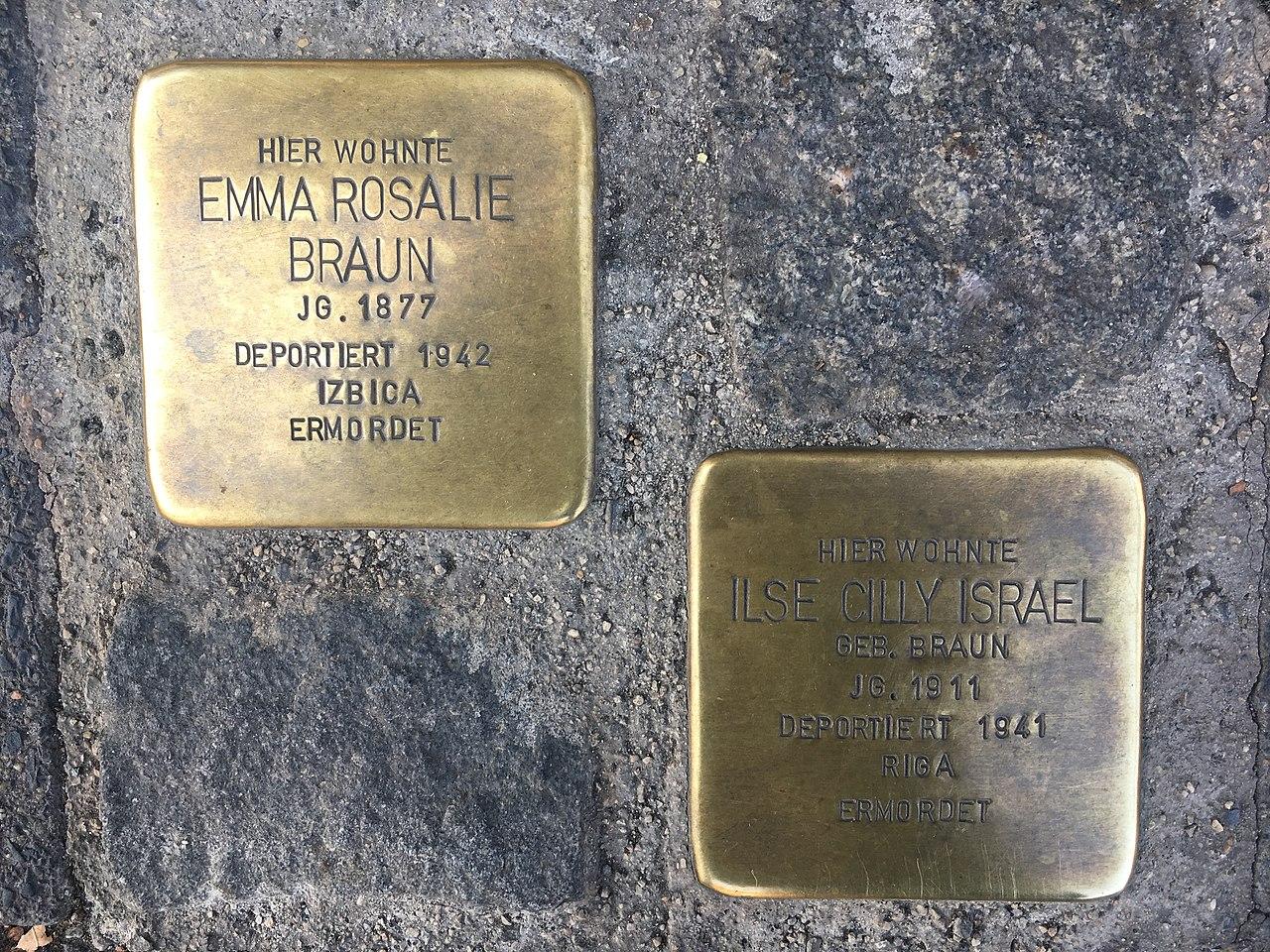 Emma Braun und Ilse Cilly Israel