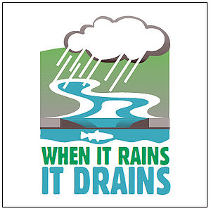 "Label or Sticker, ""When It Rains, It Drai..."