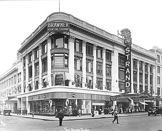 Photograph of the Strand Theatre, taken from the corner diagonally opposite