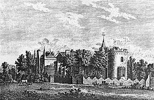 Strawberry Hill House - An 18th-century engraving of the villa