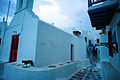 Streets of the Town of Chora in dusk. Mykonos island, Cyclades, Agean Sea, Greece.jpg