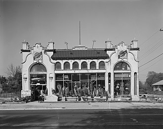 Pleasantville, New Jersey - Old Studebaker car dealership