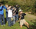 Students learn about birding and how to use binoculars from a employee.jpg