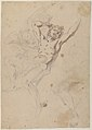 Study for a Prometheus Bound (recto); slight sketch of head and shoulders of man in lead pencil (verso) MET 17.236.41.jpg