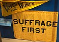Suffrage pennant and banner used by Wisconsin or Milwaukee County Suffrage Association at the Republican National Convention, Chicago, Illinois, 1916 - Wisconsin Historical Museum - DSC03254.JPG