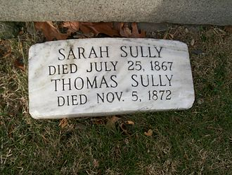 Thomas Sully - Grave marker for Thomas Sully and his wife Sarah
