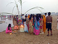 Sun festival at the riverside in Bodhgaya.jpg