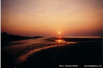 Barisal Division - Sunrise at Kuakata sea beach, Barisal