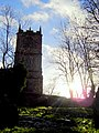 Sunset behind St Mary's church, Mold - geograph.org.uk - 298884.jpg