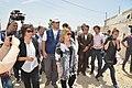 Susana Malcorra visita campo de refugiados sirios donde trabaja Cascos Blancos 03.jpg