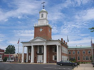 Sussex County Courthouse and the Circle - Sussex County Courthouse, July 2009