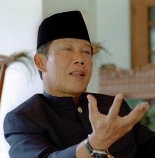 Sutiyoso Indonesian politician, former general and sports administrator