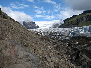 Interstellar (film) - The Svínafellsjökull glacier in Iceland was used as a filming location for Interstellar, doubling for Mann's planet.