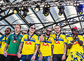 Sweden national under-21 football team celebrates in June 2015-3.jpg