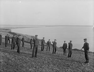 Royal Naval Reserve - Members of the Royal Naval Reserve training at Tramore, County Waterford, c. 1905