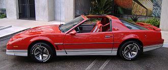 """Pontiac Firebird (third generation) - 1985 Firebird Trans Am: Pontiac would use this 15-inch """"High Tech"""" aluminum wheel pattern until 1992."""
