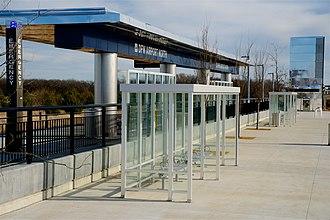 DFW Airport North station - Image: TEX Rail DFW North 2018 3