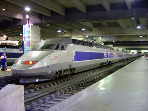 TGV train inside Gare Montparnasse DSC08895