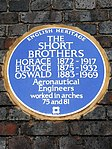 THE SHORT BROTHERS HORACE 1872-1917 EUSTACE 1875-1932 OSWALD 1883-1969 Aeronautical Engineers worked in arches 75 and 81.jpg