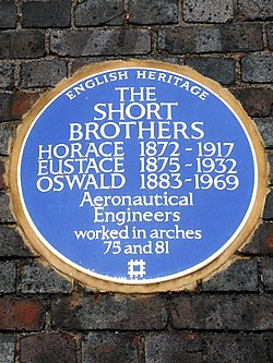 The short brothers horace 1872 1917 eustace 1875 1932 oswald 1883 1969 aeronautical engineers worked in arches 75 and 81