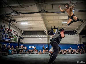 TK O'Ryan - TK chooses to go to the air against Sami Callahan during a Northeast Wrestling event in CT