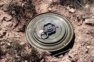 Anti-tank mine - A Russian TM-46 anti-tank blast mine.