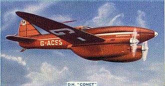 De Havilland Mosquito - Construction concepts pioneered in the de Havilland Comet were later used in the Mosquito.