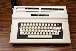 TRS-80 Color Computer - Final production 64K Tandy Color Computer 2, showing full-travel keyboard (26-3127B)