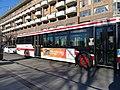 TTC bus 7858 heading east on the Esplanade at Sherbourne, 2014 12 07 (5) (15784175940).jpg