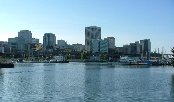 Tacoma skyline from Thea Foss Waterway