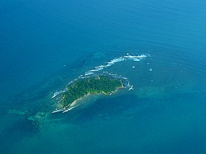 Tanzania Marine Parks and Reserves Unit - Aerial view of Pangavini Island