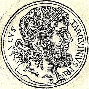 Lucius Tarquinius Priscus - Lucius Tarquinius Priscus, 16th-century depiction published by Guillaume Rouillé