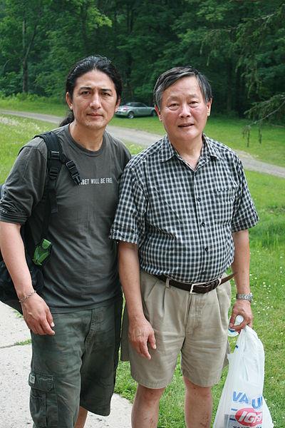 File:Techung with Wei Jingsheng.jpg