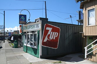 Temescal, Oakland, California - The Kingfish Cafe and Pub, a popular bar in Temescal