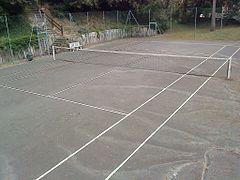 Surfaces de jeu au tennis wikimonde for Surface terrain de tennis