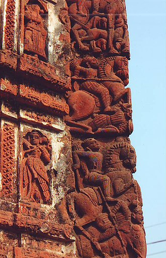 Jaydev Kenduli - Details of terracotta carving in Radhabinode Temple