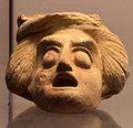 Terracotta mask of a Hetaera sec century BC Staatliche Antikensammlungen 00.jpg
